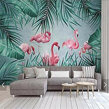 Wandbild Tapeten Wandtattoos3D Tropical Flamingo