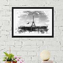 Wandbild Vogel und Eiffelturm Paris ModernMoments