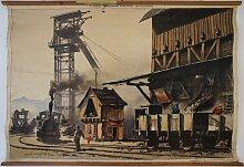 Wandbild von Kohlemine