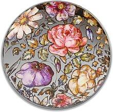 Wandbild, Wanddeko MIRROR Spiegel mit Blumenmotiv