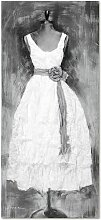 Wandbild weiß, 70x150 cm
