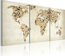 Wandbild - Weltkarte - Quadrate