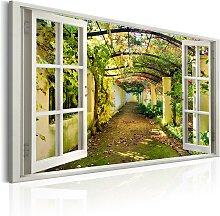 Wandbild - Window: View on Pergola