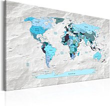 Wandbild - World Map: Blue Pilgrimages