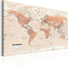 Wandbild - World Map: Orange World