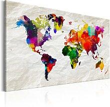 Wandbild - World Map: Rainbow Madness