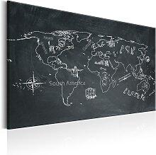 Wandbild - World Map: Travel broadens the Mind