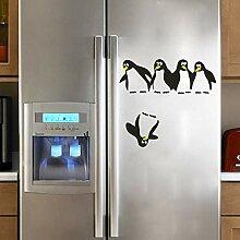 Wandbild ZOZOSO Pinguin Kühlschrank Aufkleber