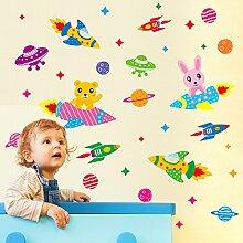 Wandbild ZOZOSO Raumschiff Kreative Aufkleber