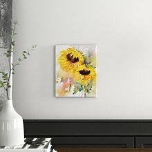 Wandbild Zwei Sonnenblumen