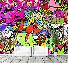 Wandbild3D Bunte Graffiti Fototapete für