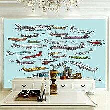 Wandbilder 120×100 cm -Farbflugzeug- Fototapete