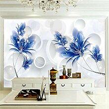 Wandbilder 250×175 cm -Pflanzen Sie Blaue Blume-