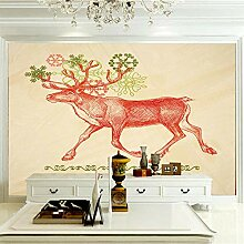 Wandbilder 250×175 cm -Waldtier Rotwild-