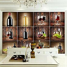 Wandbilder 250×175 cm -Weinschrank- Fototapete 3D