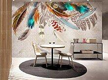 Wandbilder 3 d Tapete für Wände Mode Feder