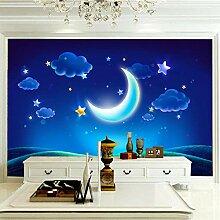 Wandbilder 350×256 cm -Blauer Mond Der Karikatur-