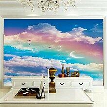 Wandbilder 350×256 cm -Bunte Wolkenlandschaft-