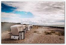 Wandbilder - Acrylglasbild Strandkörbe auf Hiddensee