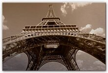 Wandbilder - Alu-Dibond Bild Eiffelturm Perspektive