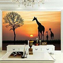 Wandbilder Für Wohnzimmer 400×280 cm -Giraffe In