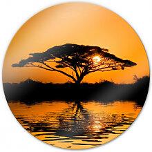 Wandbilder - Glasbild Afrika - rund