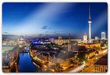 Wandbilder - Glasbild Berlin Panorama