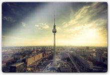 Wandbilder - Glasbild Berliner Fernsehturm -
