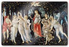 Wandbilder - Glasbild Botticelli - Der Frühling