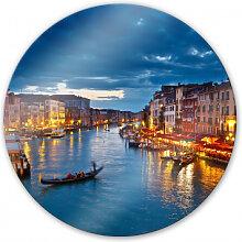 Wandbilder - Glasbild Canal Grande in Venedig -