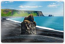 Wandbilder - Glasbild Cape Dyrholaey
