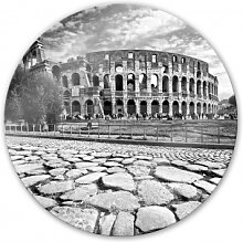 Wandbilder - Glasbild Colosseum - rund
