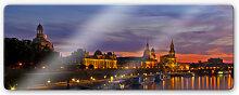 Wandbilder - Glasbild Dresden im Nachtlicht -