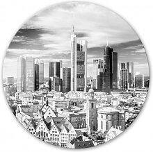 Wandbilder - Glasbild Frankfurter Skyline - rund