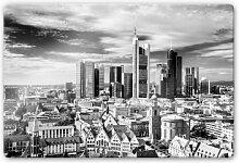 Wandbilder - Glasbild Frankfurter Skyline