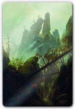 Wandbilder - Glasbild Friedrich - Felsenschlucht