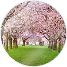 Wandbilder - Glasbild Frühling - rund
