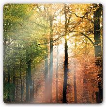 Wandbilder - Glasbild Goldener Herbst