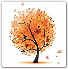 Wandbilder - Glasbild Herbst Baum 1