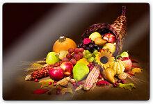 Wandbilder - Glasbild Herbst im Füllhorn