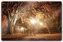 Wandbilder - Glasbild Herbst im Park