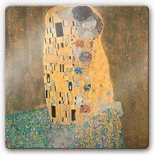 Wandbilder - Glasbild Klimt - Der Kuss
