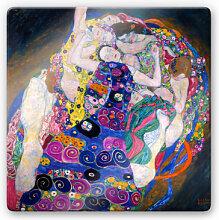 Wandbilder - Glasbild Klimt - Die Jungfrau
