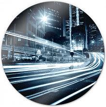 Wandbilder - Glasbild Lichter der Stadt - rund