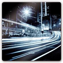 Wandbilder - Glasbild Lichter der Stadt