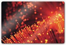 Wandbilder - Glasbild Lichtfasern abstrakt