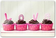 Wandbilder - Glasbild Lovely Cupcakes