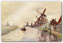 Wandbilder - Glasbild Monet - Holländische
