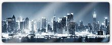 Wandbilder - Glasbild New York at Night 1 -