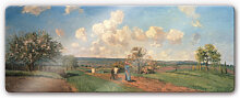Wandbilder - Glasbild Pissarro - Frühling